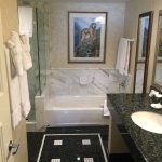 Bathroom of Junior Suite (Shower and commode to the left out of the frame)