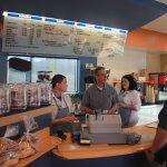 The owner, Scott, is always at the cafe making sure the ship sails smoothly and guests are enjoy