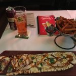 Chicken flatbread with sweet fries
