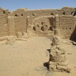The chapel built out of mudbrick around 350 BC