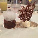 Dessert..with whisky vanilla ice cream