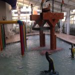 one of the kid water play zones