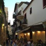 strada nei dintorni dell'hotel, tipica di Rethymno