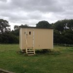Shepherds Hut - it does have its own separate bathroom, not shown in the picture