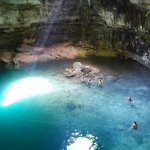 The Cenote we got to swim in. Not many people.