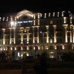 Beautiful Polonia Palace by night.