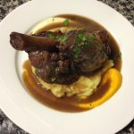 6hr braised lamb shank, proper gravy, buttery mash, carrot and parsnips purees