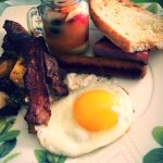 L'entrée du petit déjeuner avant d attaquer le buffet :-)