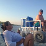 Handicapped chair for the beach..free of charge