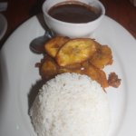 Black beans & rice, fried plantains