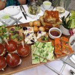 Delicious variety of savories for Afternoon Tea (service for 5 shown)