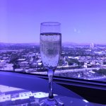 Bubbles in the Concierge Lounge