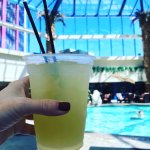 Poolside service, great margaritas!