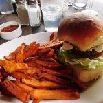 Lamb Burger and Sweet Potato Fries