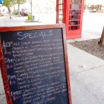 Specials Board and Special Phone Booth