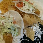Fish Tacos $12 - Good but beans and rice were warm