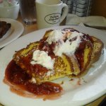 Strawberry french toast, oh so good!