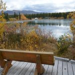 One of many benches/ look outs along Kokanee boardwalk