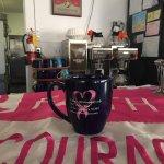 Penny's Pink Ribbon coffee mug.. 2016. My favorite