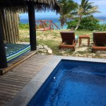 Bure 18 plunge pool, cabana, and loungers