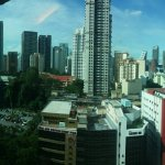 Panoramic view outside window