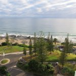 Mooloolaba beach and park area looking North.