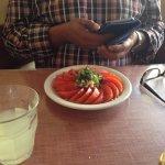 Pumpkin ravioli and Insalate di Pomodori