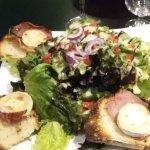 salade chevre chaud jambon cru