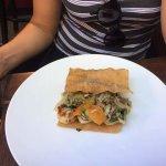 Lasagne aux gambas et légumes cuisinés au Wok