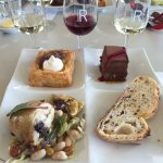Lunch at Rochford winery with wines paired to each course.