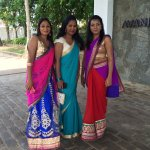 Local ladies attending a wedding at hotel