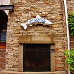 The Fish on the stone wall of Five Space