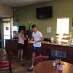 Frühstücksraum - überschaubar in Größe und Angebot