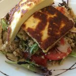Mediterranean salad with chargrilled halloumi