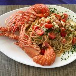 Pasta with local lobster