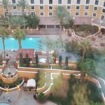 The pool area from our room.