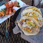 Fish (mahi) tacos and fiery shrimp. Both were excellent!