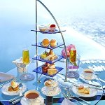 afternoon tea table for two