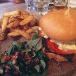 Halloumi burger and chips, yummm!