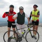 Cyclists at summit