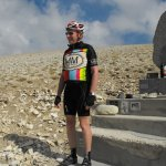 Australian cyclist visitor to the shrine of his hero