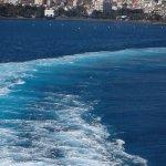 vue du bateau qui va a la Goméra
