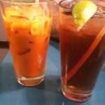 thai ice tea and regular ice tea