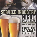 Service Industry Sundays!