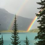 Caught this on the way to Dinner at Emerald Lake Lodge. Pot of Gold?