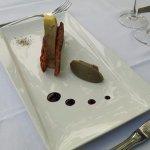 Foie gras de canard mi-cuit aux artichauts