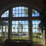 View from inside the Music Hall overlooking Galveston Beach