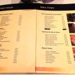 A glance at the menu