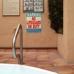 Obvious sign in hot tub area