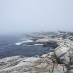 Peggy's cove during the fog.